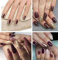 Burgundy And Black Nail Designs Best Burgundy Nails 45 Nail Designs For Different Shapes