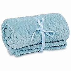 lomao flannel throw blanket with wave texture