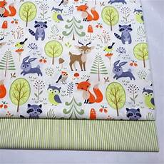 half meter forest animal cotton fabric infant baby bedding