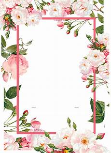 pink borders flower free png hq floral frames vector png