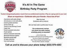 Birthday Party Program Itsallinthegamenews This Wordpress Com Site Is The Bee S