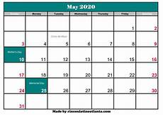 March 2020 Printable Calendar With Holidays May 2020 Calendar With Holiday Calendar Template Printable