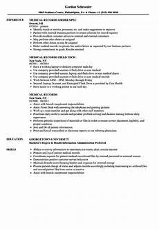 Medical Records Resume Sample Medical Records Resume Samples Velvet Jobs