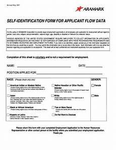 Self Identify Form Aramark Eeo Self Identifying Form Fill Online Printable