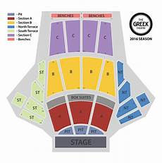 Greek Theater Chart Official Greek Theatre Website Seating Chart