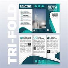 Brochure Templates Tri Fold Business Tri Fold Brochure Template Design With Turquoise