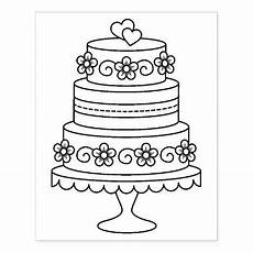 tiered wedding cake coloring page rubber st zazzle