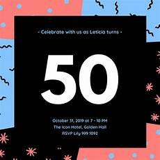 Free Custom Evites Customize 317 50th Birthday Invitation Templates Online