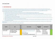 Risk Management Template Risk Management Plan Template The Best Template For Events