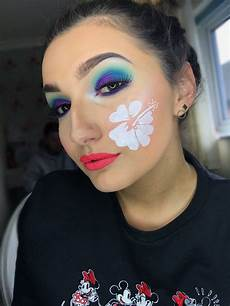 lilo and stitch inspired makeup look done by myself in