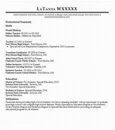 Online Instructor Resume Online Teacher Resume Sample Teacher Resumes Livecareer