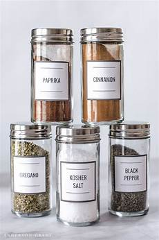 From The Kitchen Of Labels Free Printable Spice And Herb Labels Spice Jar Labels