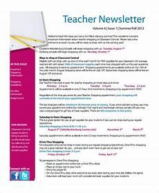 News Letter Templates For Teachers Free 8 Sample Teacher Newsletter Templates In Pdf Psd