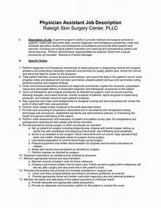 Job Description For A Shop Assistant Physician Assistant Job Description