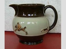 Vintage English Bourne Denby Stoneware Jug Pitcher Hunt