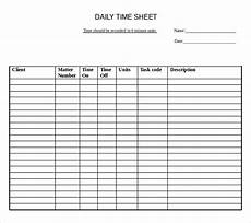 Daily Time Sheets Template 22 Daily Timesheet Templates Free Sample Example