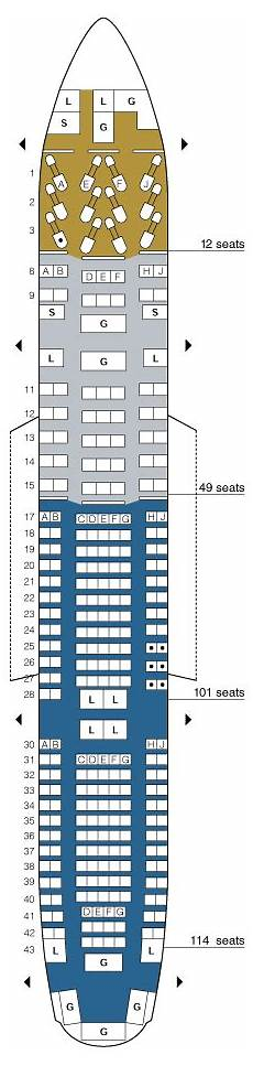 United Airlines Seating Chart 777 International United Airlines Boeing 777 200 Seating Map Aircraft Chart