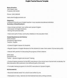 Resume English Template 40 Teacher Resume Templates Pdf Doc Pages Publisher
