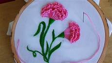 embroidery how embroidery carnation flower