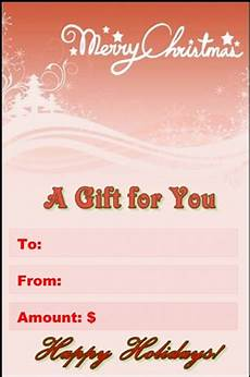 Examples Of Gift Cards Gift Certificate
