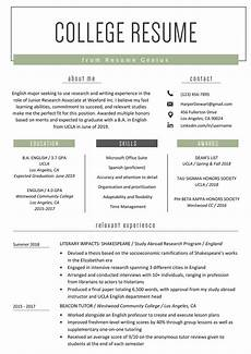 Resumes For Graduating College Students College Student Resume Sample Amp Writing Tips Student