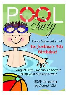 Bday Party Invites Free Printable Birthday Pool Party Invitations Templates