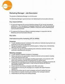Advertising Executive Job Description Marketing Manager Job Description