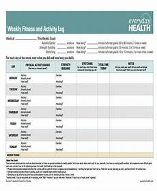 Fitness Log Example 11 Weekly Workout Log Examples Pdf Examples