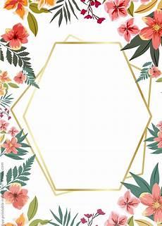 Free Editable Invitation Templates 24 Free Printable Floral Watercolor Invitation Templates
