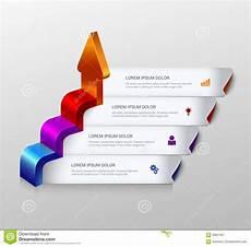 Infographic Arrow 3d Arrow Grow Infographic Background Template Stock Vector