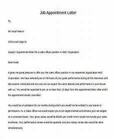 Appointment Letter For Job Format Free 15 Sample Appointment Letter Templates In Pdf Ms