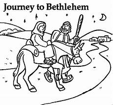 and the and joseph near bethlehem coloring