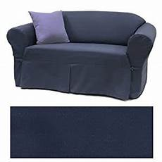 Navy Blue Sofa Slipcover 3d Image by Solid Navy Furniture Slipcover Sofa 408 Home