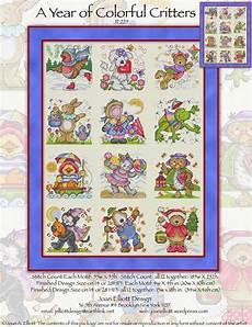 Joan Elliott Cross Stitch Charts A Year Of Colorful Critters From Joan Elliott Cross