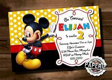 Mickey Mouse Party Invitations Free Mickey Mouse Invitation Template 23 Free Psd Vector
