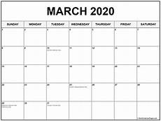 March 2020 Printable Calendar With Holidays March 2020 Calendar With Holidays