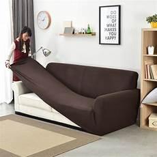 slipcover 1 2 3 4 seater sofa cover thick plaid elastic