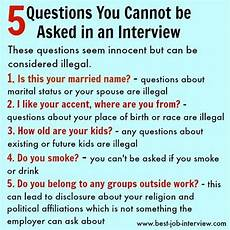 Questions To Ask At A Job Fair Illegal Interview Questions What Job Candidates Can T Be