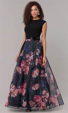 formal wedding guest dress with floral print