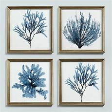 Ballard Designs Art Ballard Designs Blue Seaweed Art Print 4 By