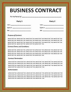 Business Contracts Samples Business Contract Template Free Printable Word