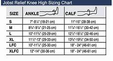 Jobst Compression Measuring Chart Jobst Relief 20 30 Mmhg Closed Toe Knee Highs Unisex