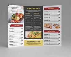Restaurant Menu Examples Food Menu Template V106 Brochure Templates On Creative