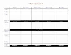 College Class Schedule Maker Template Class Schedule Template Online Printable Schedule Template