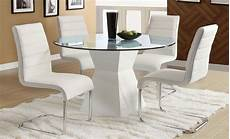 glass dining room sets mauna white glass top dining room set from furniture