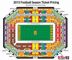 Seating Chart Carrier Dome Football Syracuse Football Virtual Venue By Iomedia All