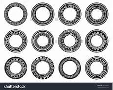 Polynesian Design Circle Set Circle Polynesian Stock Vector 287563202