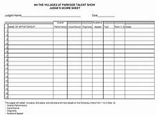 Tally Sheet Template Tvp Talent Show Tally Sheet Pdf 8 Printable Samples
