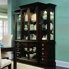 walnut breakfront china cabinet in espresso better home