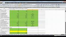 Financial Analysis Example Excel Ratio Analysis Using Microsoft Excel Youtube